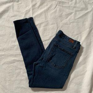 "Paige Size 30 Jeans Verdigo Ankle Inseam 27"""